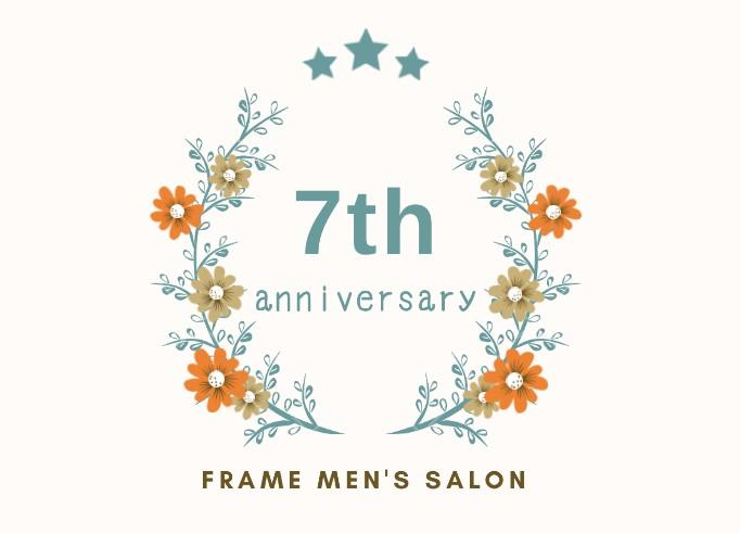 MEN'S SALON  祝7周年